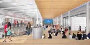 Inside the future Design Center building