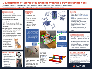 Research poster of Biometrics Enabled Wearable Device (Smart Vest)
